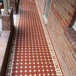Tessellated Brown and Beige tiles - Verandah