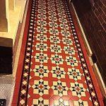 Tessellated Brown Black and Beige floor heritage tiles