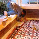 Tiler tiling tessellated verandah